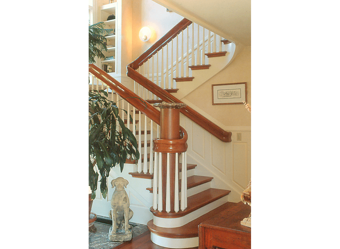 Modern Farm House and Barn Stairway